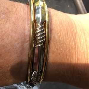 Silver and gold clasp bracelet